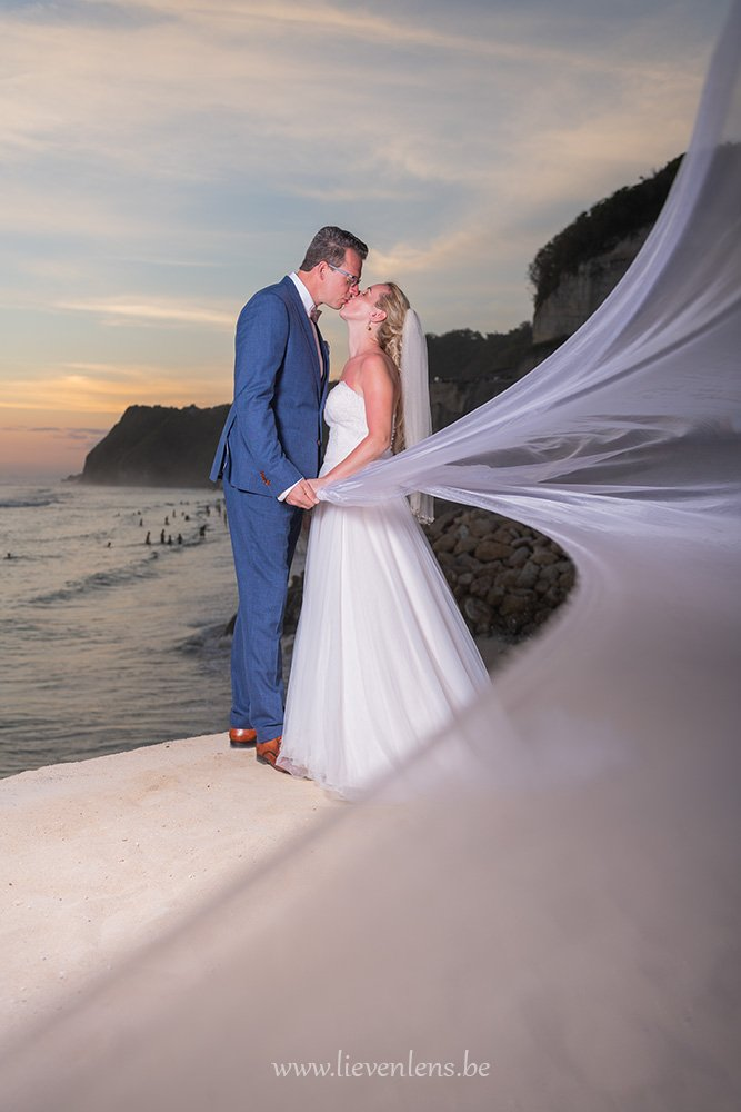 bride weddingdress beach bali